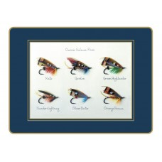 Traditional Placemats Classic Salmon Flies