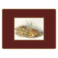 Continental Placemats Gould Game Birds