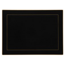 Black Screened Continental Placemats