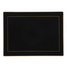 Black Screened Placemats