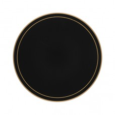 Black Screened Round Tablemats