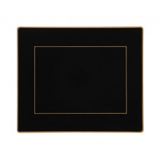 Black Screened Tablemats