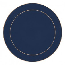 Oxford Blue Screened Round Placemats