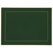 Bottle Green Screened Continental Placemats