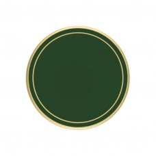 Bottle Green Screened Round Coasters