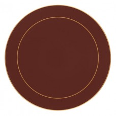 Regal Red Screened Round Placemats