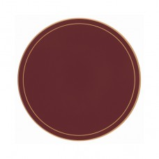 Regal Red Screened Round Tablemats
