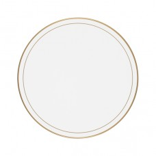 White Screened Round Tablemats