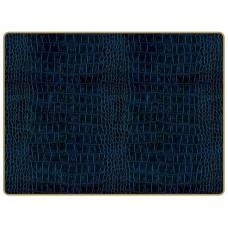 Texture Continental Placemats Blue Croc