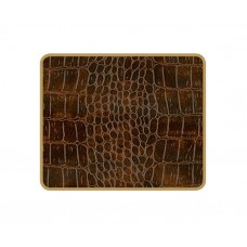 Texture Coasters Brown Croc