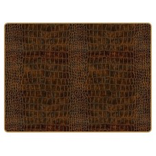 Texture Continental Placemats Brown Croc