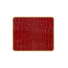 Texture Coasters Burgundy Croc