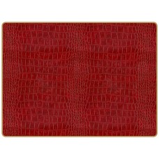 Texture Continental Placemats Burgundy Croc