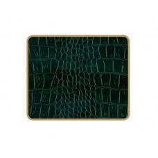 Texture Coasters Green Croc