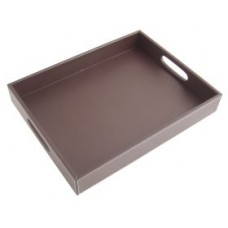 Brown Leather Rectangular Tray