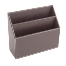 Brown Leather Stationery Rack