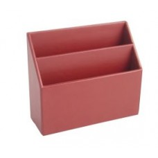 Burgundy Leather Stationery Rack