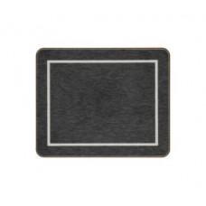 Melamine Coasters Black with Silver Frameline