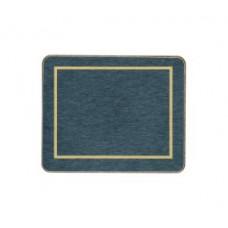 Melamine Coasters Blue with Gold Frameline