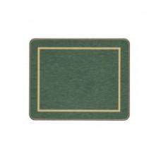 Melamine Coasters Green with Gold Frameline