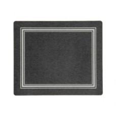 Melamine Tablemats Black with Silver Frameline