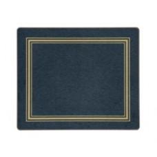 Melamine Tablemats Blue with Gold Frameline