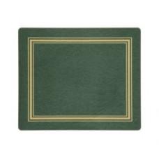 Melamine Tablemats Green with Gold Frameline