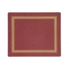 Melamine Tablemats Red with Gold Frameline