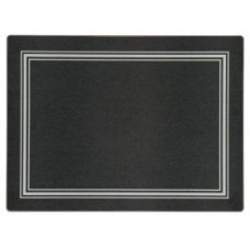 Melamine Continental Mats Black with Silver