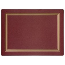 Melamine Continental Mats Red with Gold