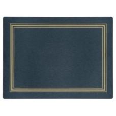 Melamine Continental Mats Blue with Gold