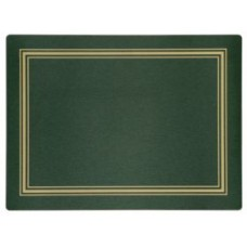 Melamine Continental Mats Green with Gold