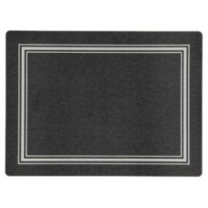 Melamine Placemats Black with Silver Frameline