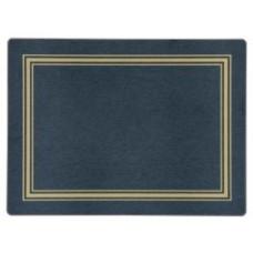 Melamine Placemats Blue with Gold Frameline