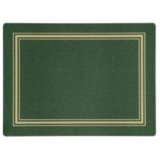Melamine Placemats Green with Gold Frameline