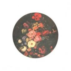 Round Melamine Coasters Dutch Floral