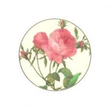 Round Melamine Coasters Redoute Roses