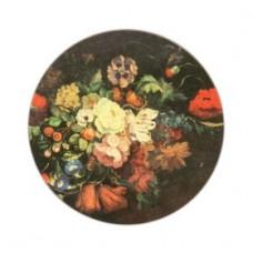 Round Melamine Tablemats Dutch Floral