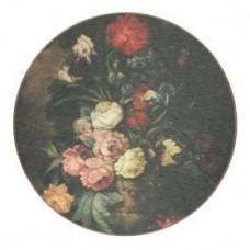 Round Melamine Placemats Dutch Floral