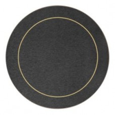 Round Melamine Placemats Blue with Gold