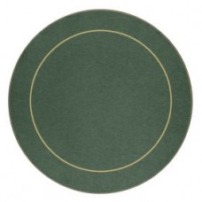 Round Melamine Placemats Green with Gold