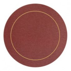 Round Melamine Placemats Red with Gold