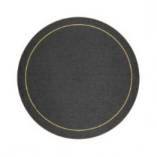 Round Melamine Tablemats Blue with Gold