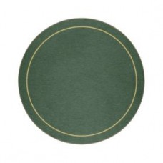 Round Melamine Tablemats Green with Gold