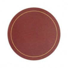 Round Melamine Tablemats Red with Gold