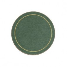 Round Melamine Coasters Green with Gold