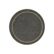 Round Melamine Coasters Blue with Gold