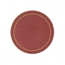 Round Melamine Coasters Red with Gold